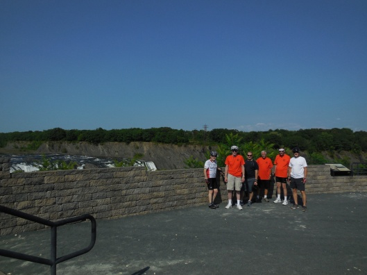 Bike the Byway crew at Cohoes Falls.